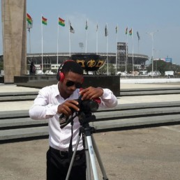 Eric Dadzie shooting for the Theresien (Royal Dust Contemplation Remix) video