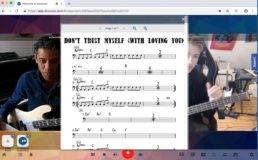 Edward Maclean - live online bass lesson and coaching using doozzoo - sharing sheet music
