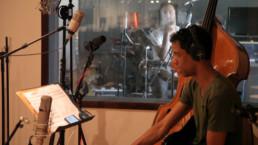 Edward Maclean and Sebastian Borkowski at Jazzanova Recording Studio