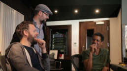 Edward Maclean, Tobias Backhaus and Matti Klein enjoy their time at Jazzanova Recording Studios during the recording of Me&You, Edward's 2nd solo album