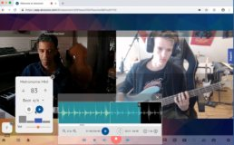Edward Maclean - live online bass lesson and coaching using doozzoo - looping a track